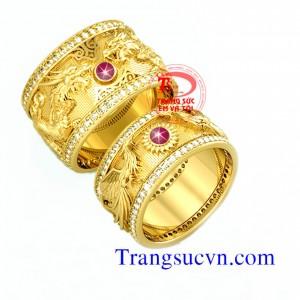 Nhẫn cưới Rồng Phượng