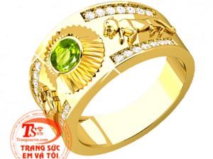 Mẫu nhẫn nam đá quý