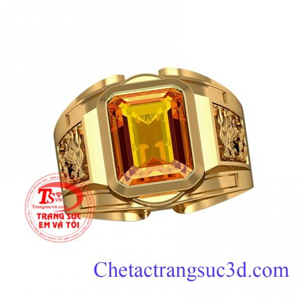 Nhẫn nam sapphire vàng,nhẫn nam sapphire vang thiên nhiên,nhẫn nam theo mệnh kim, nhẫn sapphire vàng mệnh thổ,nhẫn nam đẹp