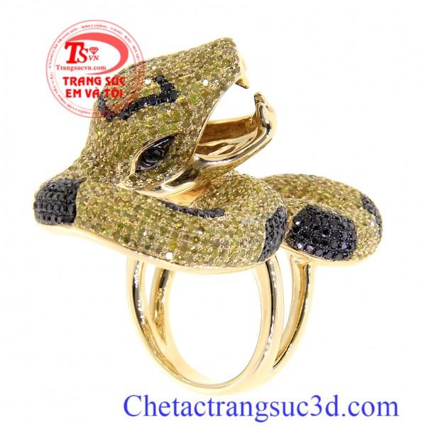 Nhẫn con rắn vàng. nhan nam tuoi ty, Nhẫn nam tuổi tỵ, nhẫn nam tuổi rắn vàng, nhẫn nam đẹp