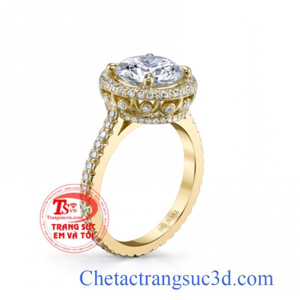 Nhẫn nữ kim cương, nhẫn nữ vàng 18k, nhẫn đính hông,thiết kế nhẫn kim cương