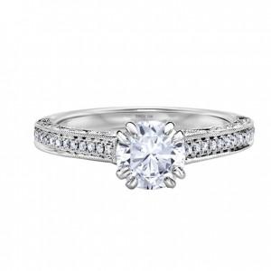 Nhẫn nữ vàng trắng, nhẫn nữ kim cương, thiết kế nhẫn nữ 3D