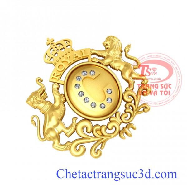 Chuyện thiết kế logo bằng vàng, Logo công ty vàng 18k, logo vàng thật