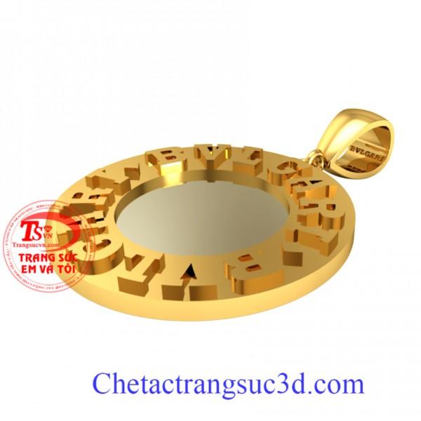 mặt dây chuyền nam chữ nổi,mặt dây chuyền vàng 18k,măt vàng tây cho nam