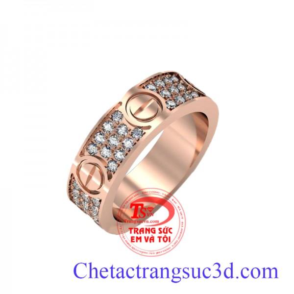 Nhẫn nam hàng hiệu, Nhẫn vàng hồng, nhẫn nam sang trọng, Nhẫn vàng hồng đẳng cấp, dành cho nam đẹp có đảm bảo vàng